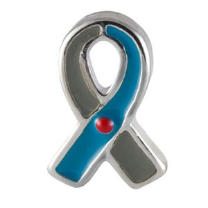 Picture of Blue/Grey Ribbon: Juvenile Diabetes Charm
